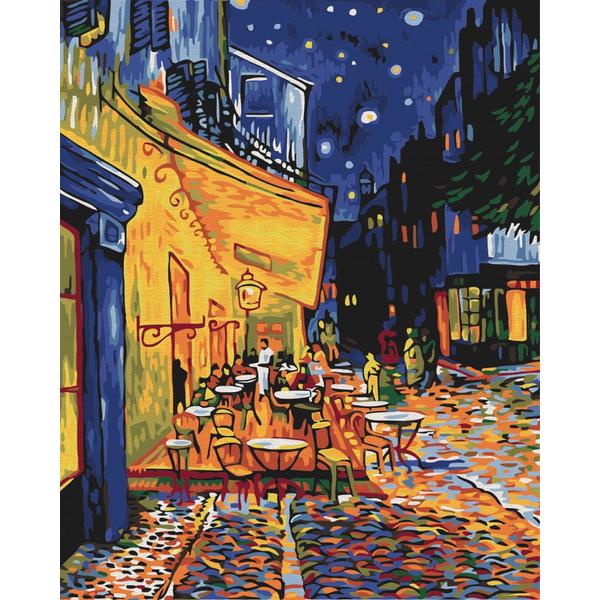 Картина по номерам Репродукции художников - Ночное кафе в Арле. Ван Гог