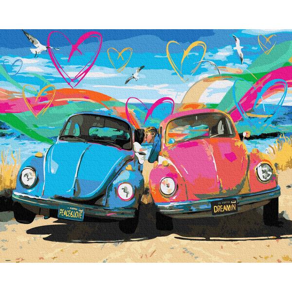 Картина по номерам Корабли, авто и самолеты - Любов. Мир. Ретро