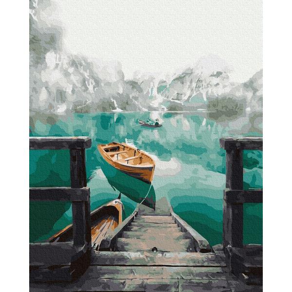 Картина по номерам Пейзажи - Лодка на озере Брайес