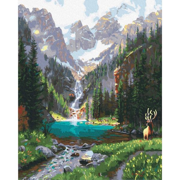 Картина по номерам Природа - Горная долина