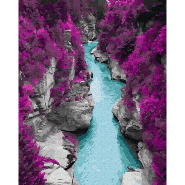 Картина по номерам Природа - Голубые воды в скалах