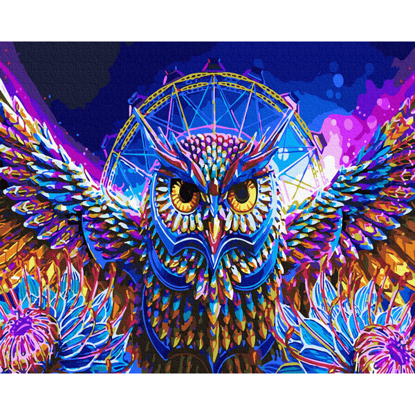 Картина по номерам Поп-арт - Красочная сова