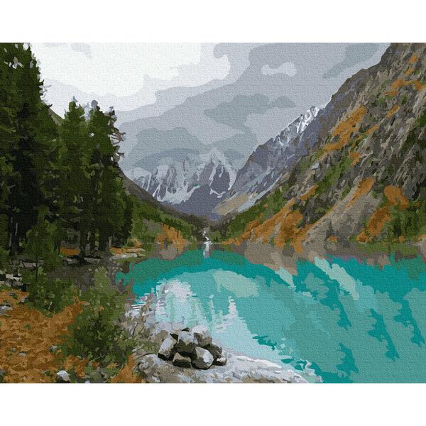 Картина по номерам Природа - Вид на гірське озеро