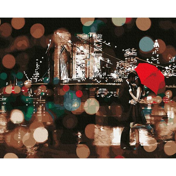 Картина по номерам Города - Романтичний дощовий вечір