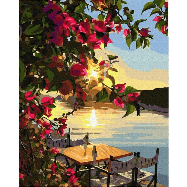 Картина по номерам Пейзажи - Закат солнца на причале
