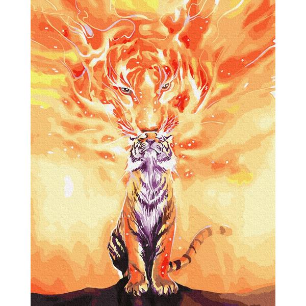 Картина по номерам Животные, птицы и рыбы - Енергія тигра