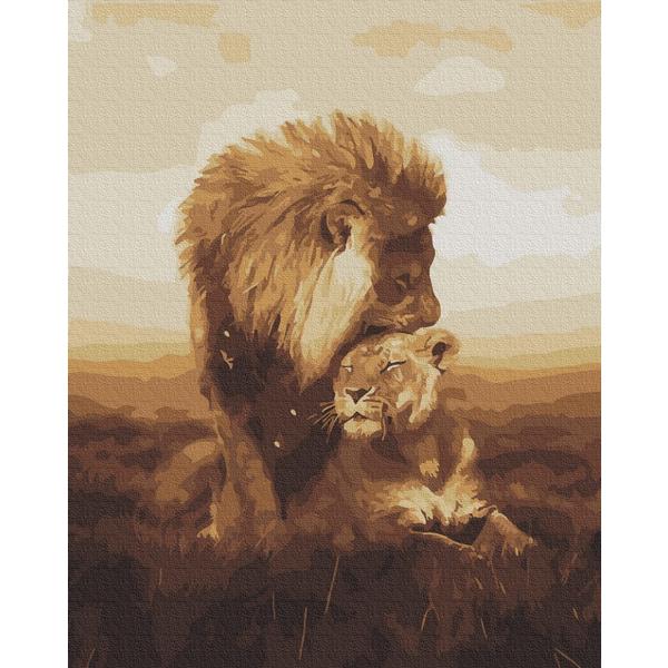 Картина по номерам Животные, птицы и рыбы - Левина любов