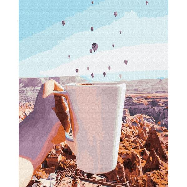 Картина по номерам Пейзажи - Ранкова кава в Каппадокії