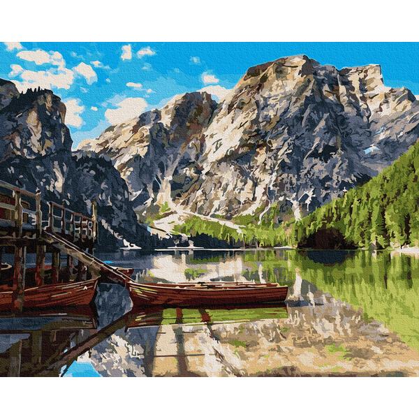 Картина по номерам Природа - Пирс на озере Комо