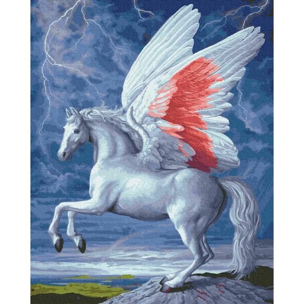 Картина по номерам Животные, птицы и рыбы - Крылатый конь