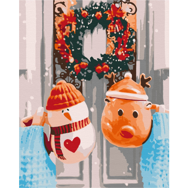 Картина по номерам Зима, Новый год, Рождество - Рождественское утро