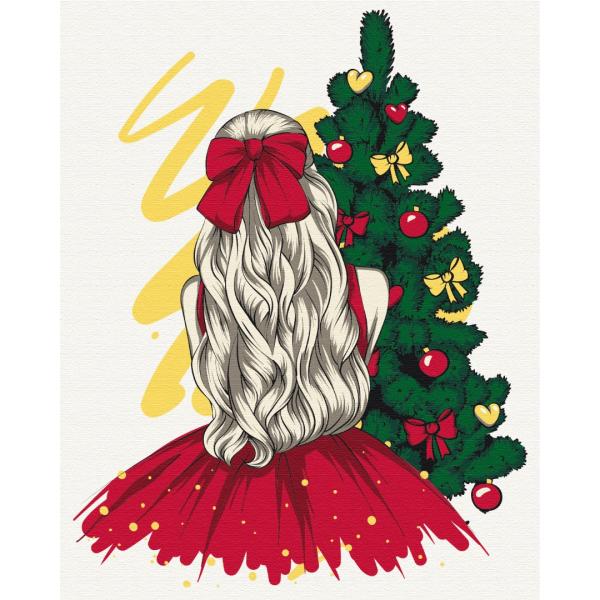 Картина по номерам Зима, Новый год, Рождество - Новорічна красуня