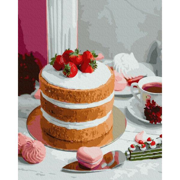 Картина по номерам Натюрморты - Ягідний десерт