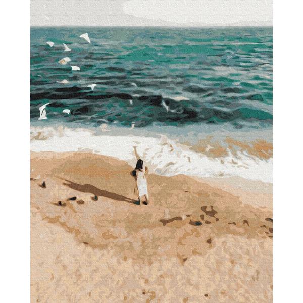 Картина по номерам Уникальные сюжеты - Фигура на побережье