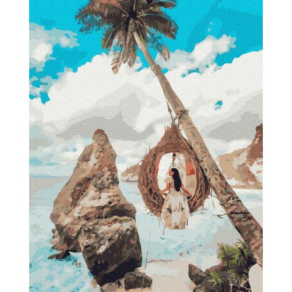 Картина по номерам Уникальные сюжеты - Дівчина на райських остовах