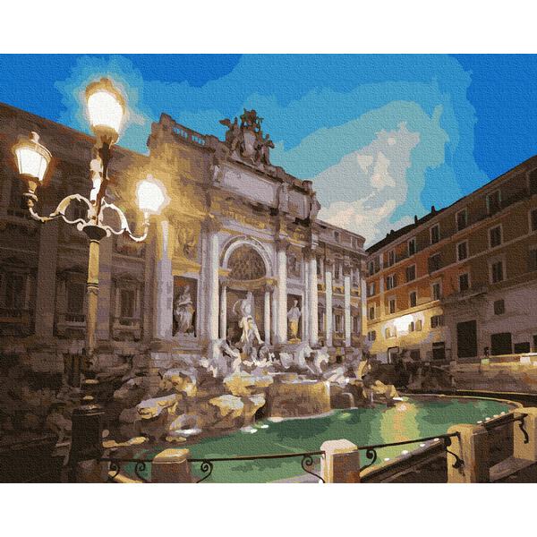 Картина по номерам Города - Вид на фонтан Треви