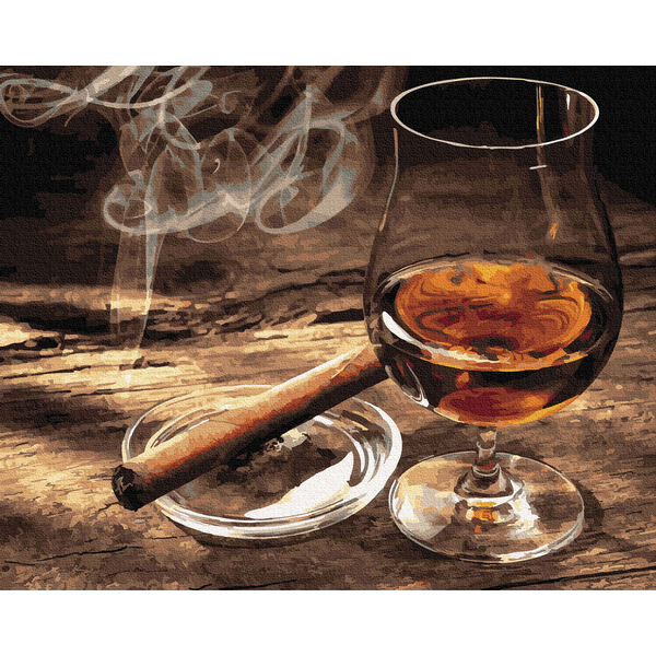 Картина по номерам Мужские - Дым сигары