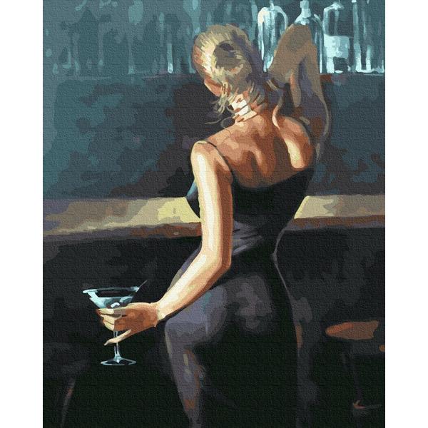 Картина по номерам Люди на картинах - Леди в черном