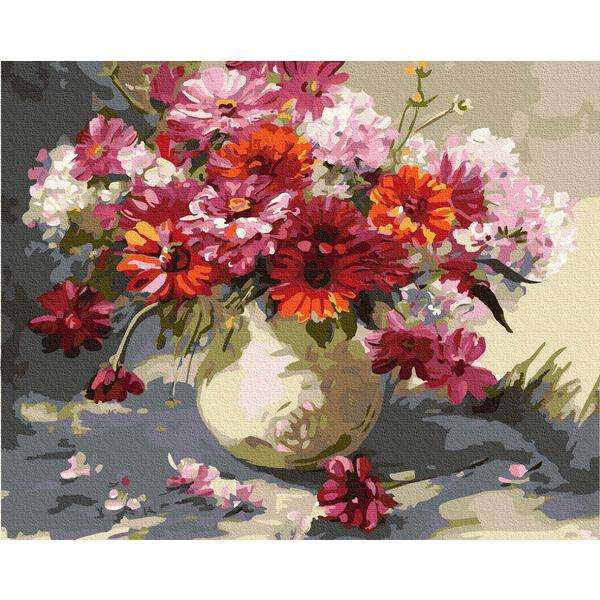 Картина по номерам Цветы - Букет яскравих маргариток