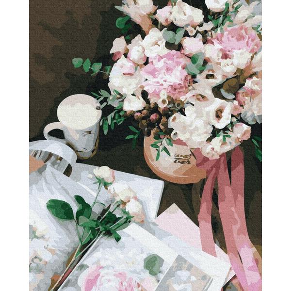 Картина по номерам Цветы - Квітковий роман