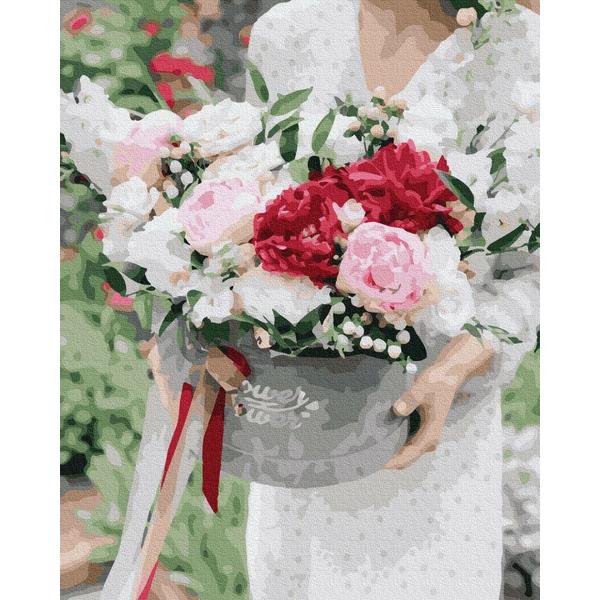 Картина по номерам Цветы - Цветы в подарок
