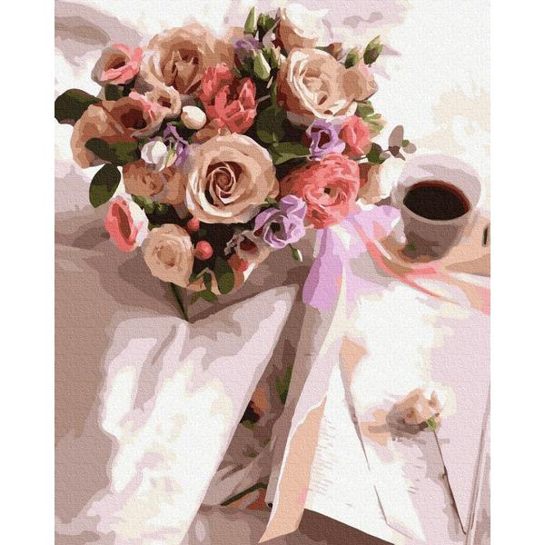 Картина по номерам Цветы - Ранковий букет