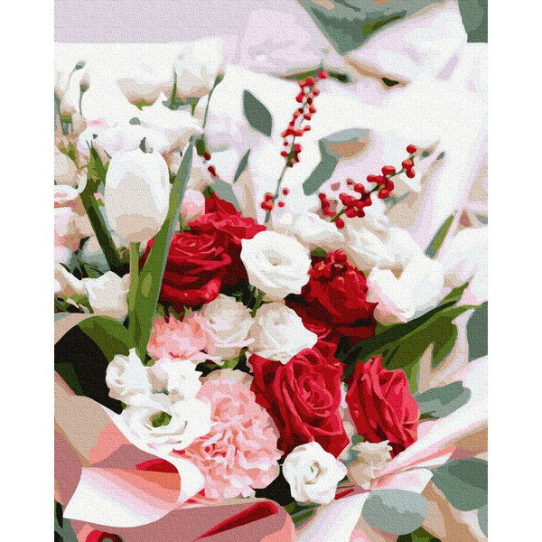 Картина по номерам Цветы - Зимний букет