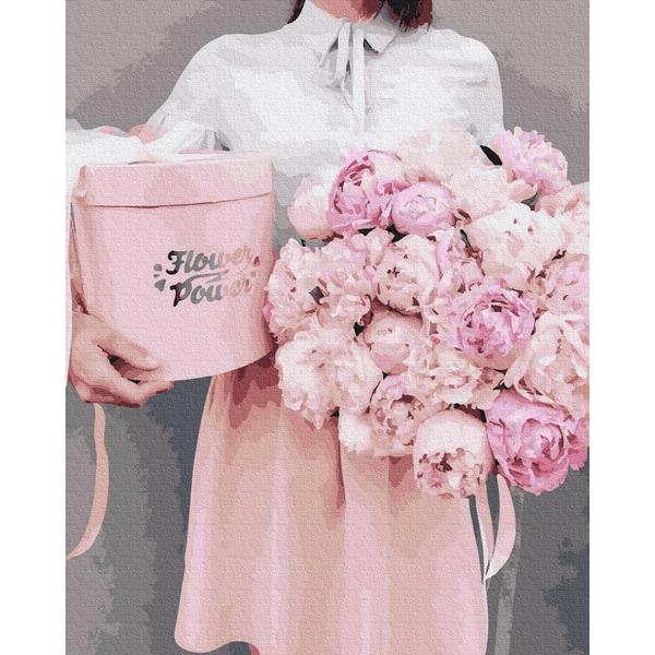 Картина по номерам Цветы - Піони в подарунок