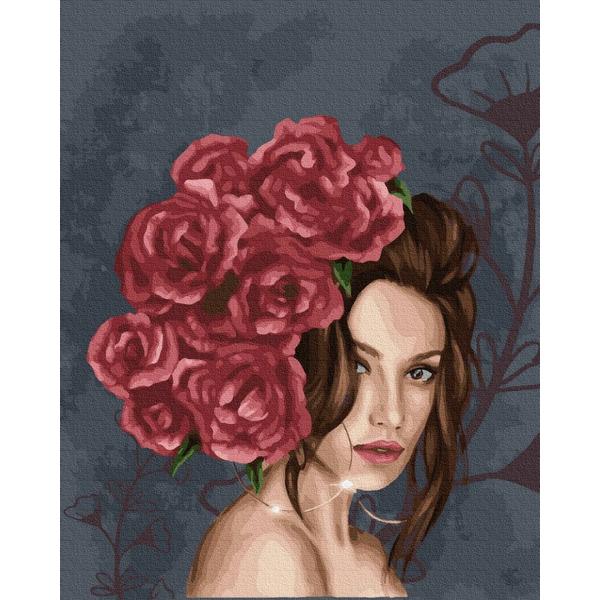 Картина по номерам Уникальные сюжеты - Леди в розах