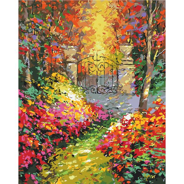 Картина по номерам Пейзажи - Осінній сад