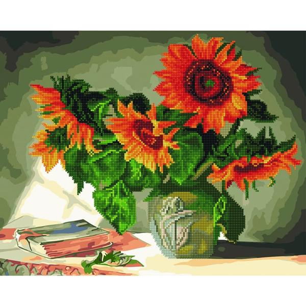 Алмазные картины-раскраски - Натюрморт з соняшниками