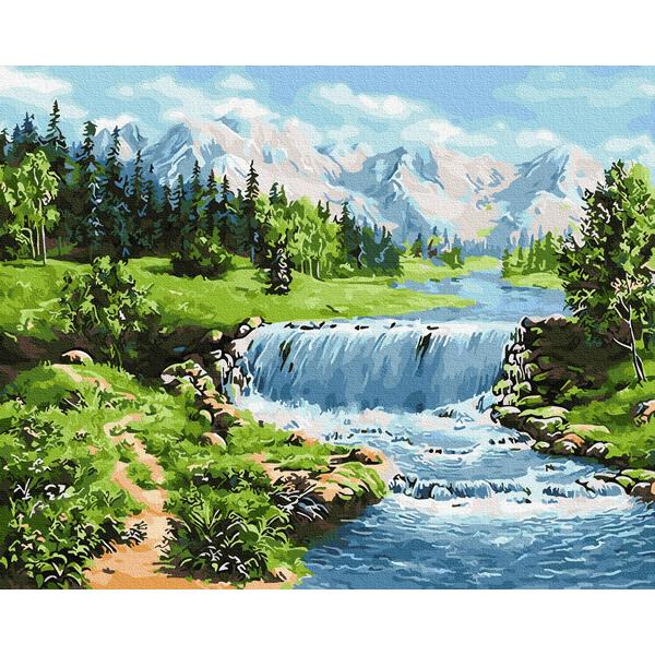 Картина по номерам Природа - Сказочный водопад