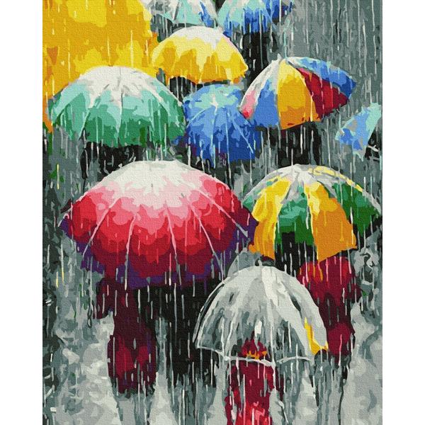 Картина по номерам Поп-арт - Дождевые краски