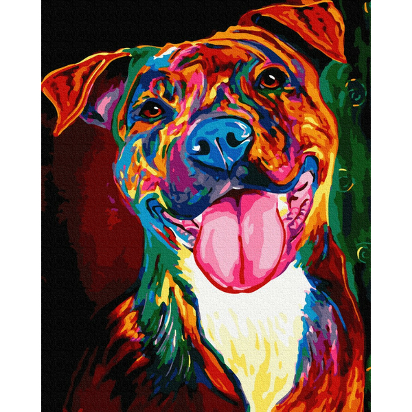 Картина по номерам Поп-арт - Портрет собачки