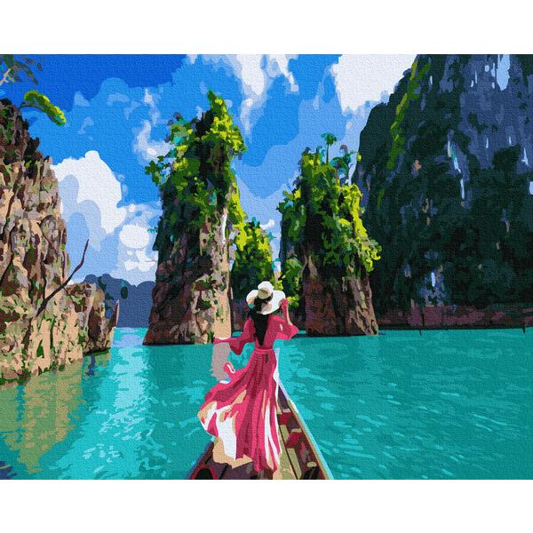 Картина по номерам Люди на картинах - Прогулка на лодке