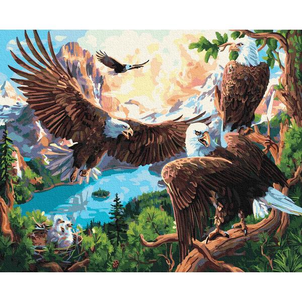 Картина по номерам Животные, птицы и рыбы - Орлиное гнездо