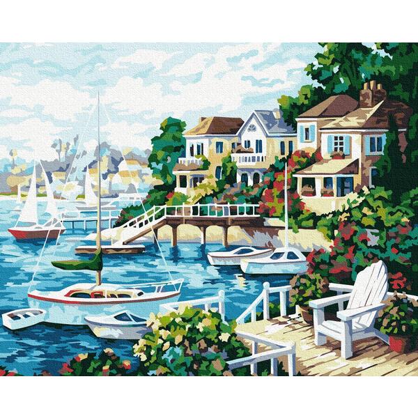 Картина по номерам Пейзажи - Курортне місто