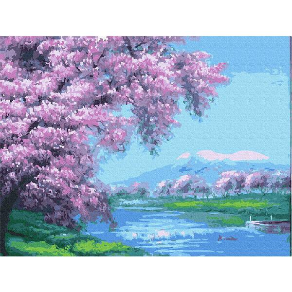 Картина по номерам Пейзажи - Весна в горах