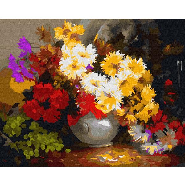 Картина по номерам Цветы - Розмаїття айстр