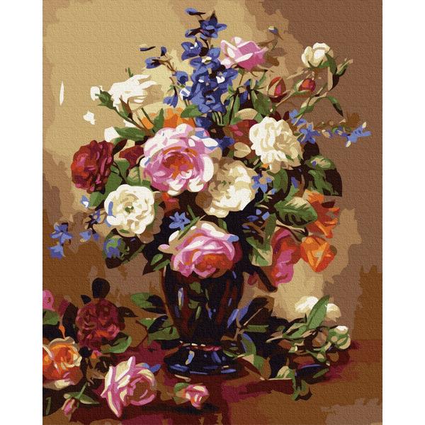 Картина по номерам Цветы - Разнообразный цветной букет