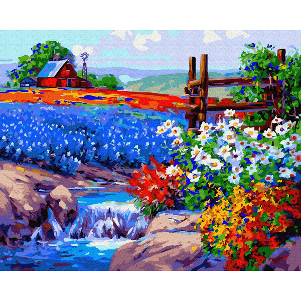 Картина по номерам Пейзажи - Квітуче поле
