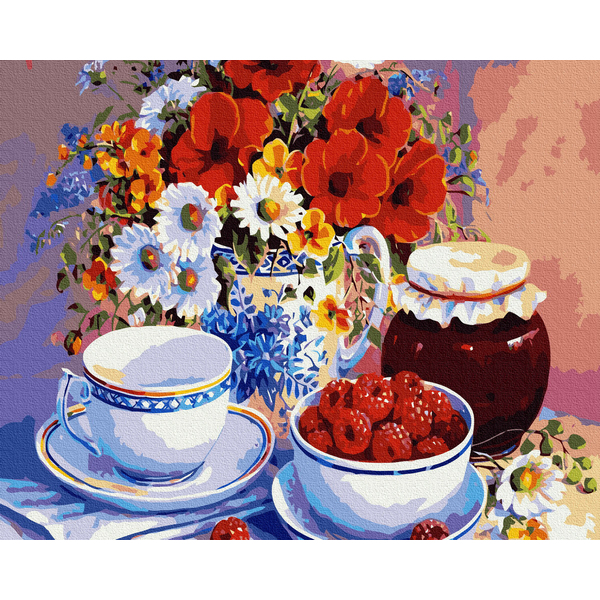 Картина по номерам Натюрморты - Чай з малиною