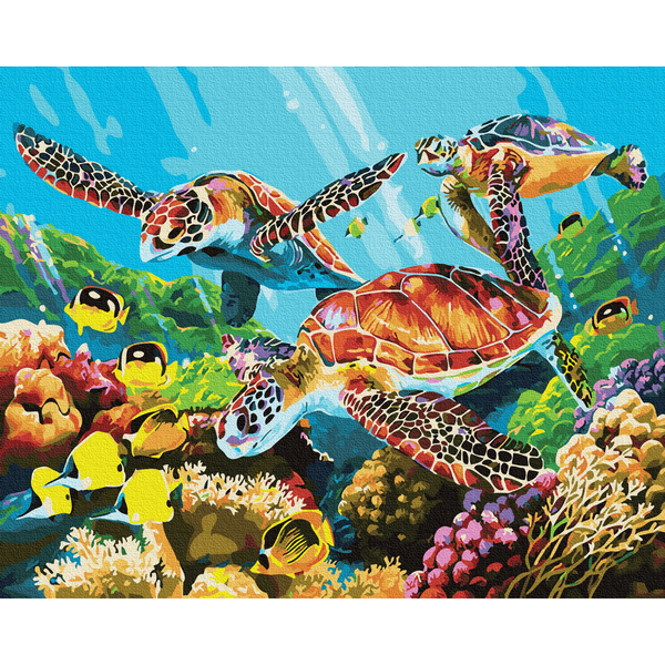 Картина по номерам Животные, птицы и рыбы - Яскравий підводний світ