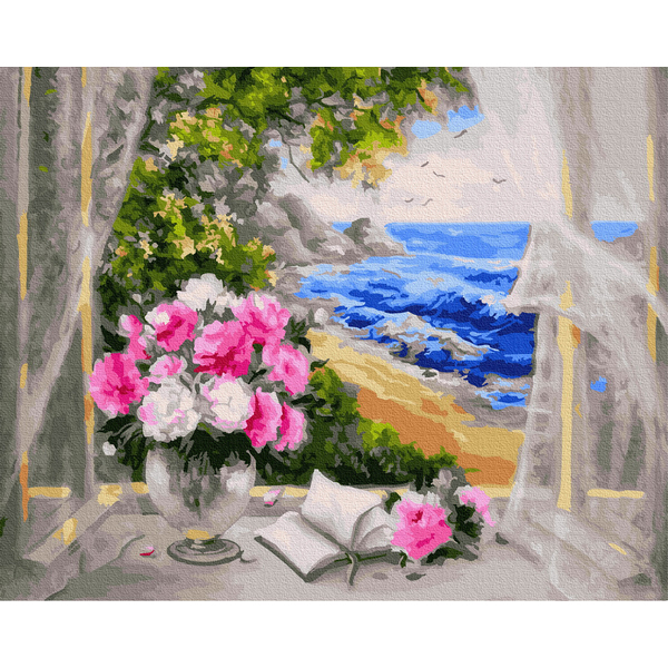 Картина по номерам Цветы - Квіти біля моря