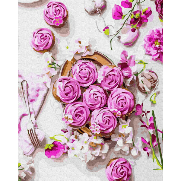 Картина по номерам Натюрморты - Розовые безе