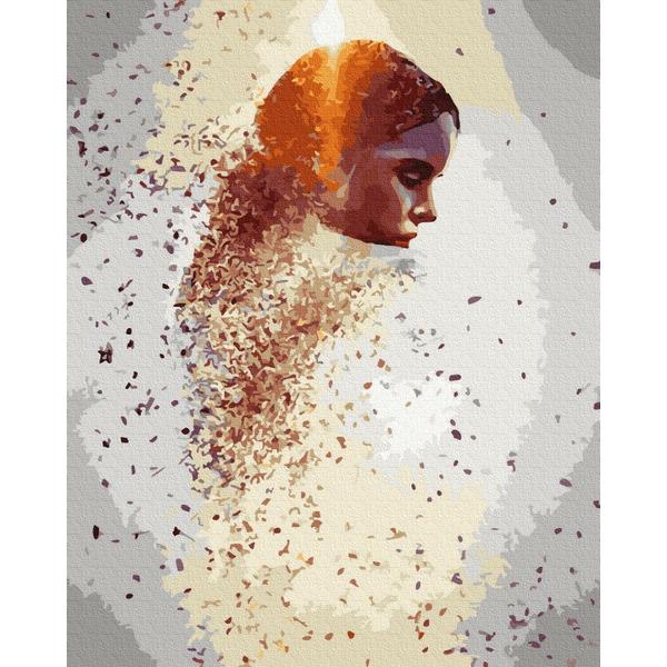 Картина по номерам Абстракции - Сияющий профиль