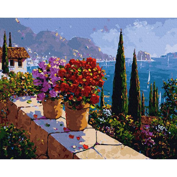 Картина по номерам Пейзажи - Сад з пейзажним видом