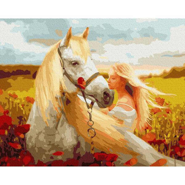 Картина по номерам Люди на картинах - Златовласка с лошадью