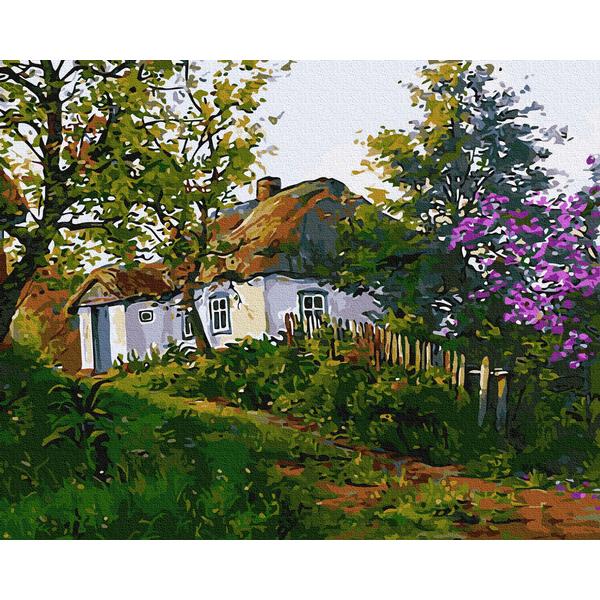 Картина по номерам Украинские города и пейзажи - Сільська хатина