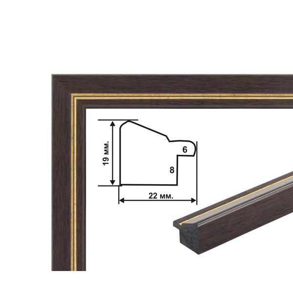 Багетные рамки - Багетна рамка (коричнево-золота 2 см) 40х50